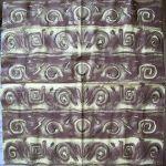 Салфетка золотисто-коричневый орнамент код ТС0347, трехслойная, размер 33х33 см. 1.50 UAH.