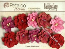 Набор цветов Petaloo Dahlias х 10 Red/Fuschias