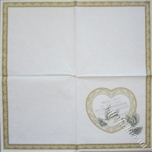 wedding heart white
