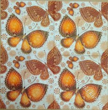 ethnic butterflies orange 33 х 33 см